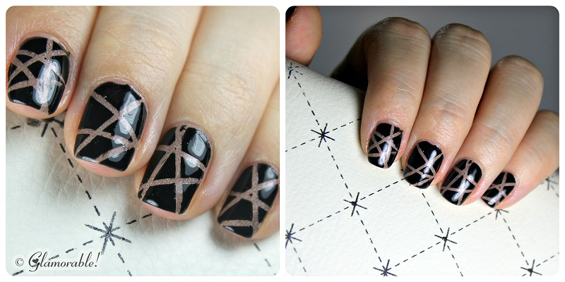 Nail Art For Short Nails Holo Stripes Glamorable