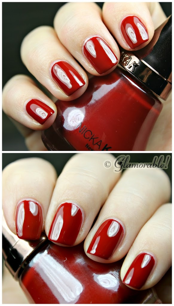 Nicka K Nail Color Ripe Apple Swatches and Review - Glamorable