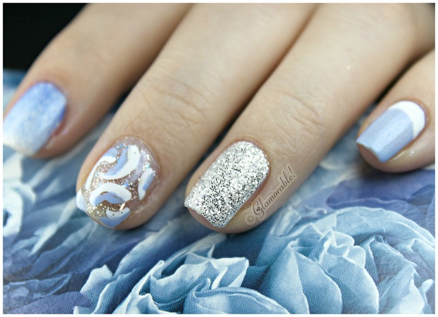 Disney Princess Inspired Nail Art: Cinderella - Disney Princess Inspired Nail Art: Cinderella - Glamorable