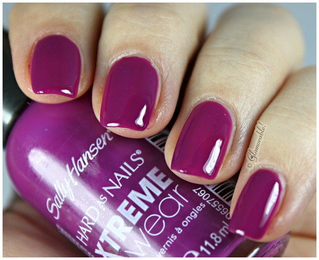 Sally Hansen XTreme Wear Pep-Plum Swatches, Review - Glamorable