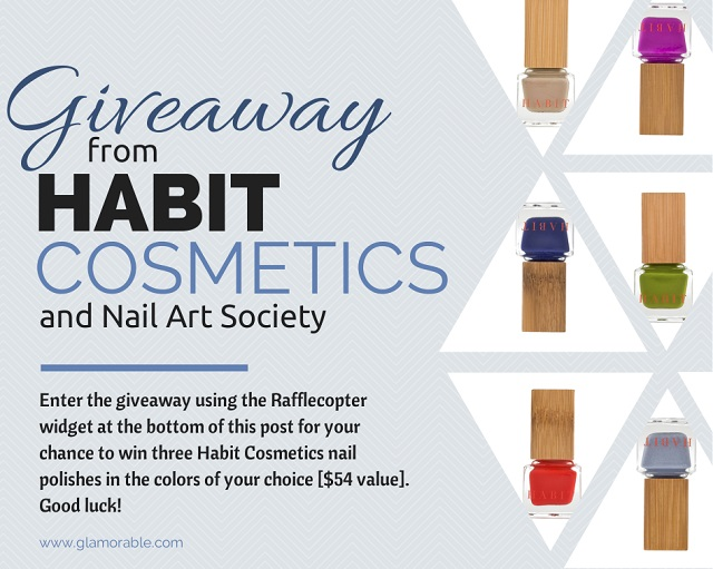 OVER] Habit Cosmetics & Nail Art Society Giveaway - Glamorable
