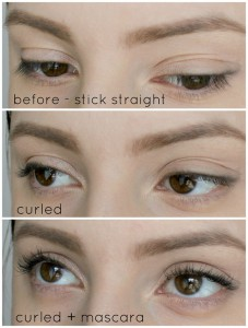 heated eyelash curler results. wishtrend, eyelash curler, heated eyelashes, long lashes, korean skincare, curler results s