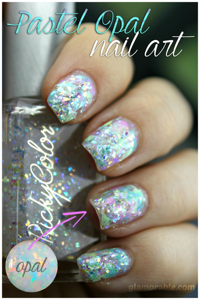 Opal Nail Art Using Rickycolor Pastel Polishes