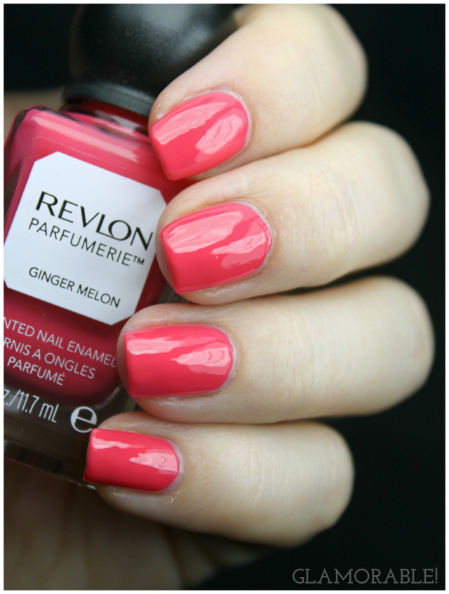 Revlon Parfumerie Scented Nail Polish Ginger Melon, Fresh Linen Swatches, Review | via @glamorable #bbloggers #beauty #nails #nailpolish #manicure #revlon #parfumerie #scentedpolish #coral #bridal #ivory