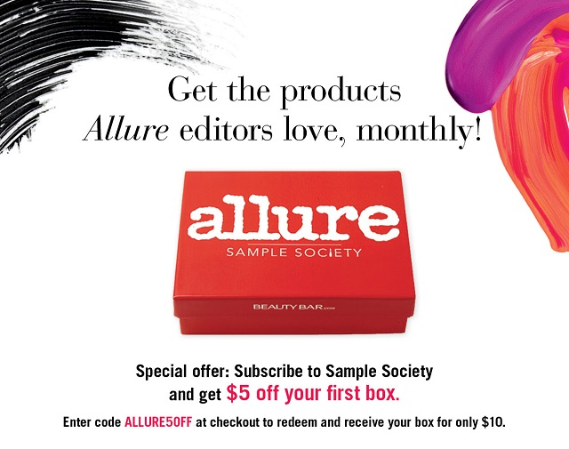 Allure Sample Society Discount Code + October Box Spoiler - Glamorable