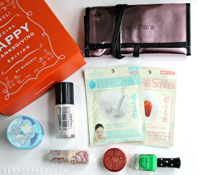 Memebox (미미박스) Thanksgiving For You Box Review, Pictures, Swatches, Unboxing + November Discount Codes >> http://ow.ly/EJ0um   via @glamorable