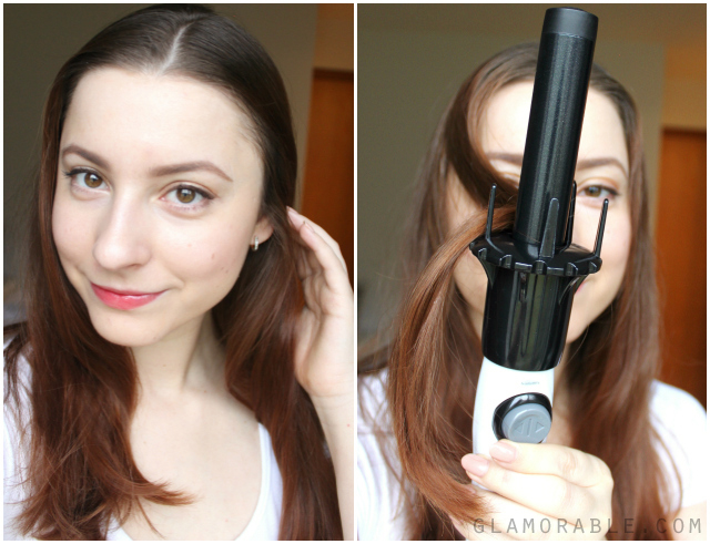 How to quickly curl your hair with New KISS InstyaWave automatic curling wand. || Review, Pictures, Tutorial || Read more at >> http://ow.ly/G8TDU  | via @glamorable