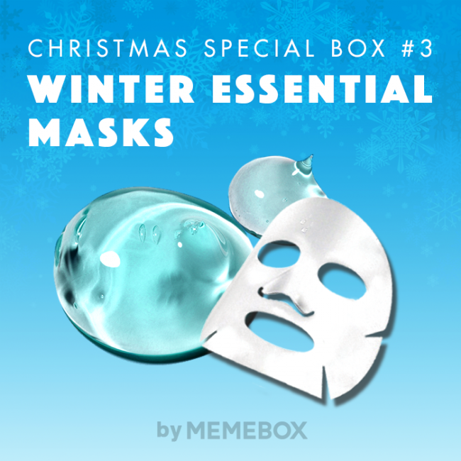 New Memebox Arrival: Christmas Collection #3 Winter Essential Masks + December Discount Codes