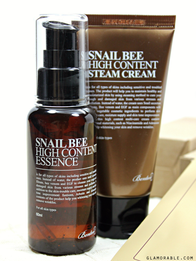 Benton Skin Care Review: Snail Bee High Content Essence, Steam Cream & Mask Pack >> http://bit.ly/1EaapyH | via @glamorable