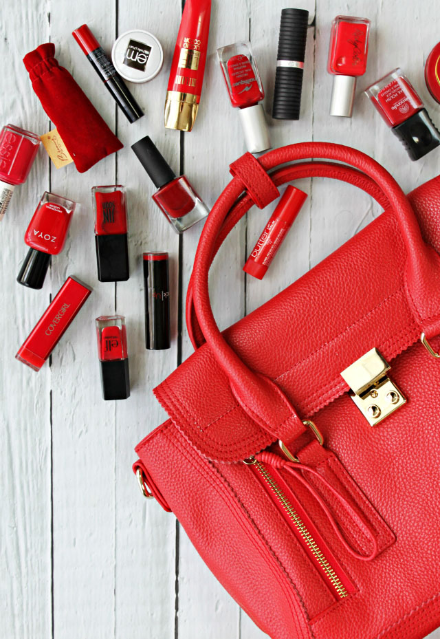 Favorite red lipsticks, nail polish, chapstick, and more!