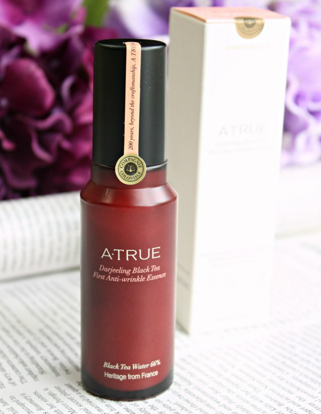 Introducing A. True, a Korean beauty brand that makes skin care with premium black tea from France. On the blog: swatches and review of Real Black Tea True Active CC Cushion SPF 50+/PA+++ in Light Beige and Darjeeling Black Tea First Anti-Wrinkle Essence >> http://bit.ly/1LkNuUZ || via @glamorable