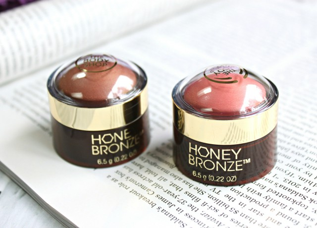 Swatches and review of The Body Shop Honey Bronze Highlighting Domes in Shade 02 and Shade 03 >> http://bit.ly/1FS5ezt | via @glamorable