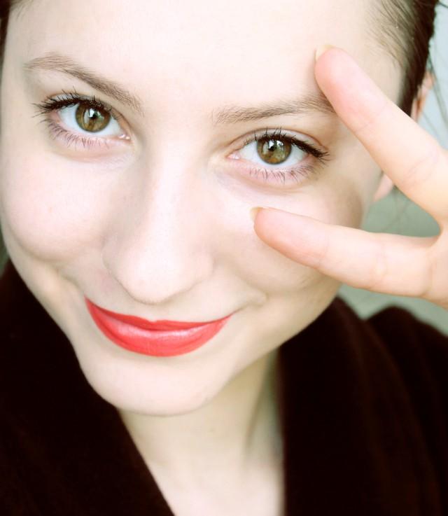 Two-Product FOTD // Makeup Look using Givenchy Le Rouge 304 Mandarine Bolero and MAC False Lashes Mascara >> https://glamorable.com   via @glamorable
