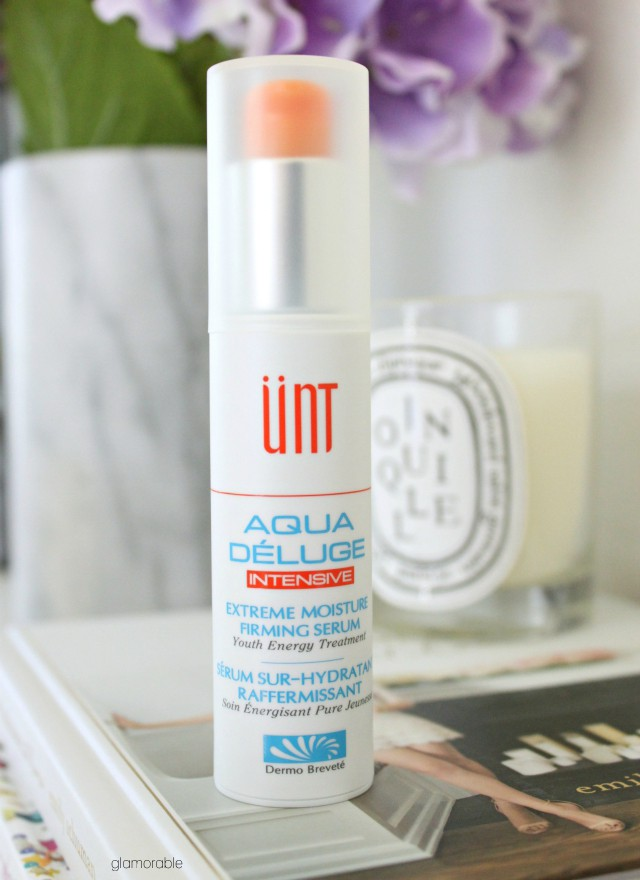 UNT Cosmetics Aqua Déluge Intensive Extreme Moisture Firming Serum Review. Click through for more pictures! >> www.glamorable.com | via @glamorable