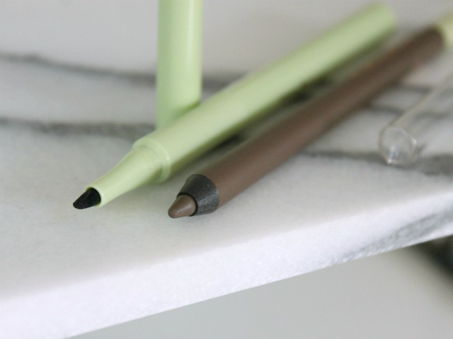 Review and swatches of PIXI Mattelustre Lipstick, Endless Brow Gel Pen & Cat Eye Ink liquid eyeliner pen from the new Fall 2015 Collection. Read more at >> www.glamorable.com | via @glamorable