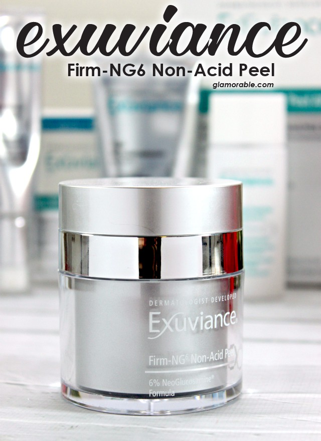 Exuviance Firm-NG6 Non-Acid Peel Review. A non-irritating peel that can be used every day plus learn about the benefits of NeoGlucosamine in skincare. Read more at >> www.glamorable.com | via @glamorable