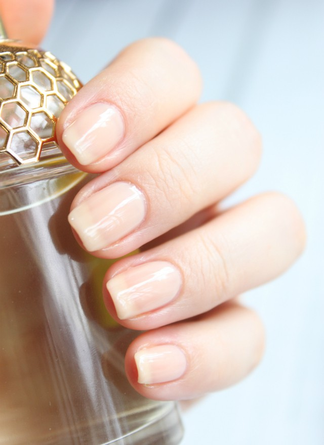polish Sheer nude nail
