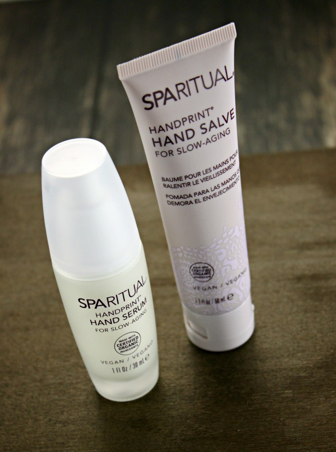 Best Treatment for Dry Hands - SpaRitual Handprint Hand Serum and SpaRitual Handprint Hand Salve