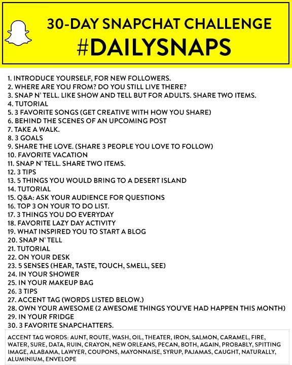 snapchat challenge