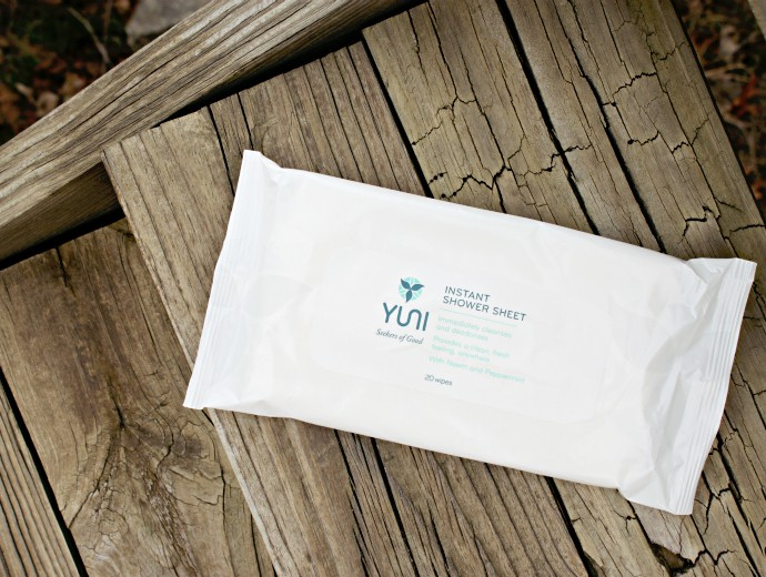 Waterless Cleansing Solutions from YUNI, YUNI Shower Sheets