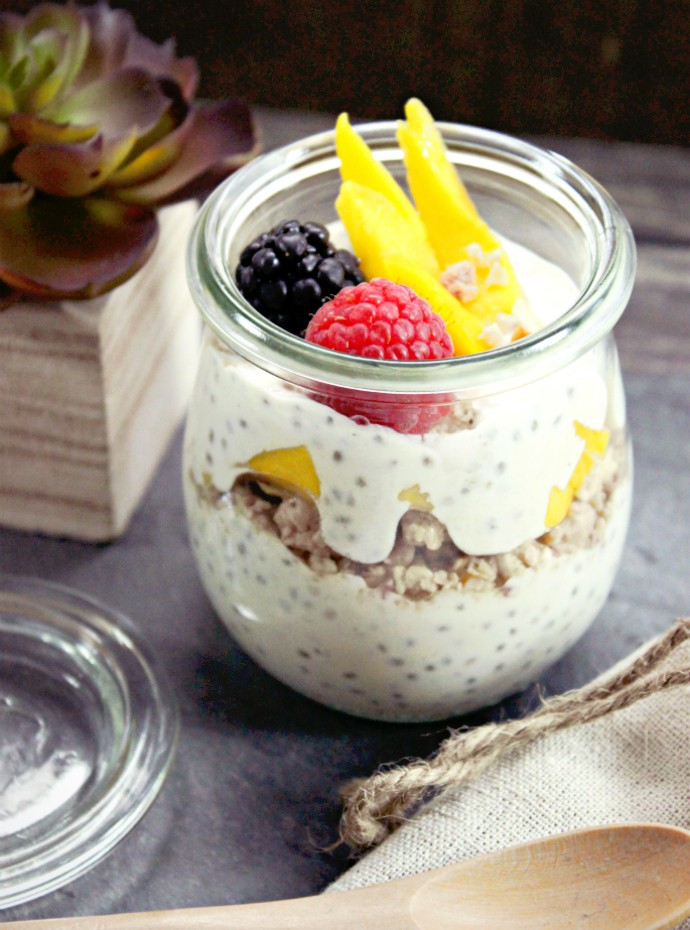 Coconut-Mango Breakfast Chia Pudding Recipe | How Eating Chia Seeds Every Morning Greatly Improved My Diet #NOWWellness
