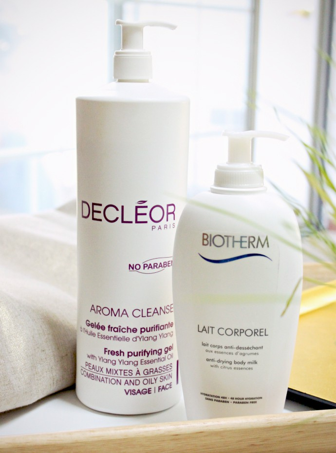Combination Dehydrated Skin Heroes | Decleor Aroma Cleanse Fresh Purifying Gel, Biotherm Anti-Drying Body Milk, Bumble And Bumble Sunday Shampoo
