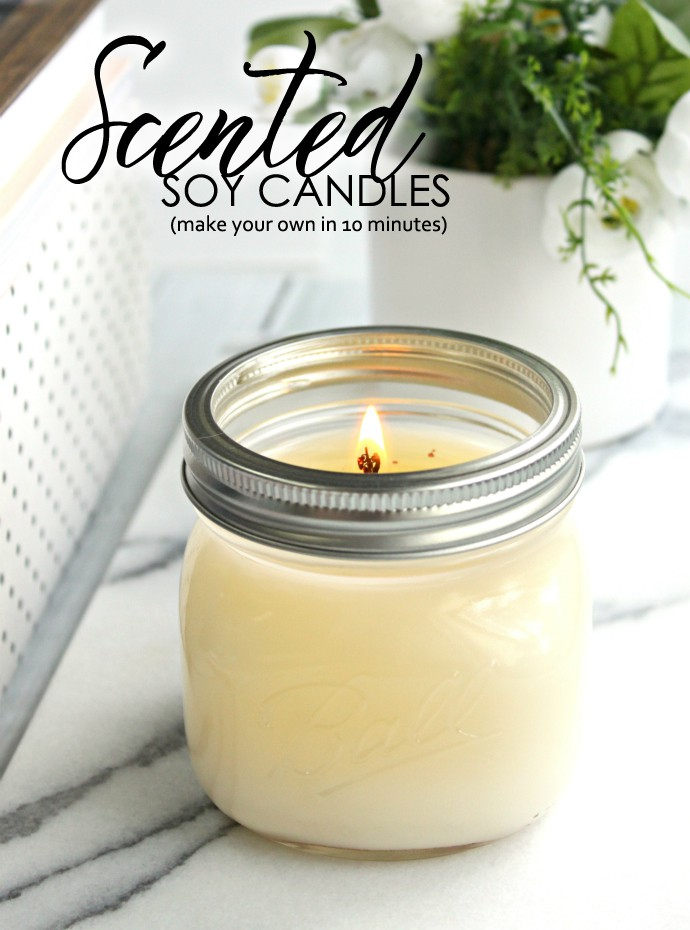 Diy Scented Soy Candles Glamorable