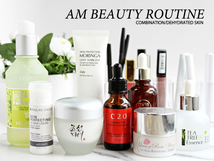 Korean 8 Step AM Beauty Routine for Combination/Dehydrated Skin