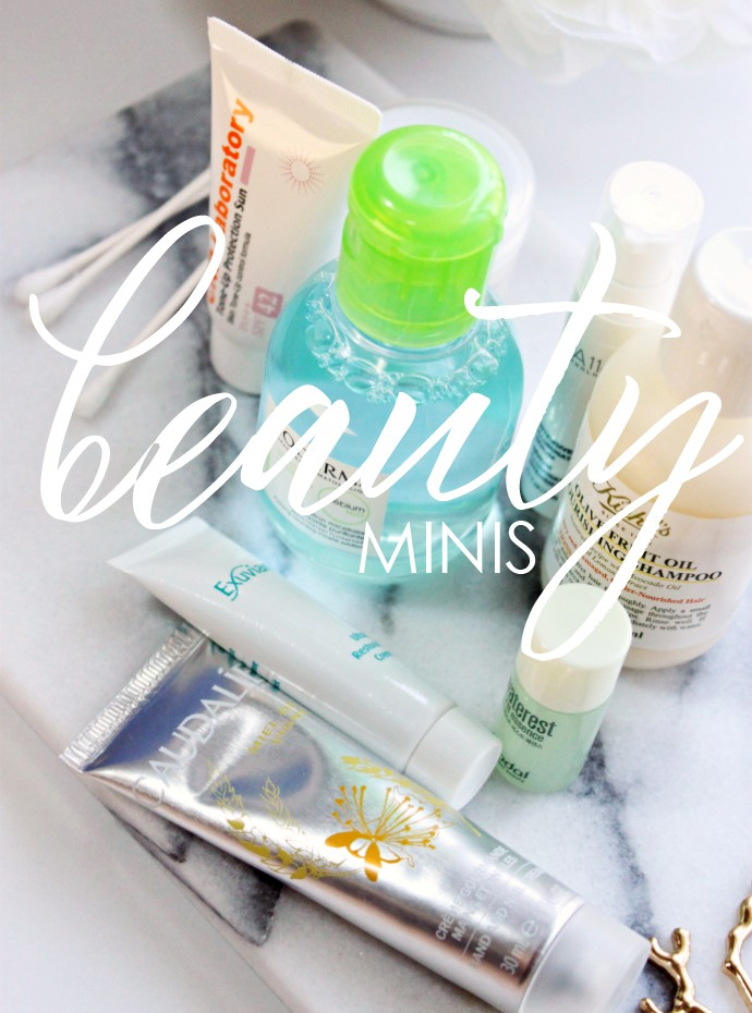Travel Sized Beauty Products Currently in Rotation