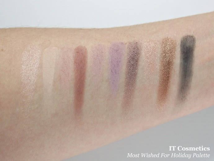 IT Cosmetics Limited Edition Most Wished For Holiday Palette Review & Swatches