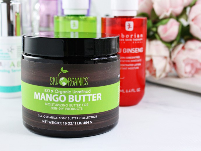 Trying Right Now ... New beauty products for Spring 2017 | Sky Organics Mango Butter & DIY Deep Moisturizing Sweet Orange Body Butter