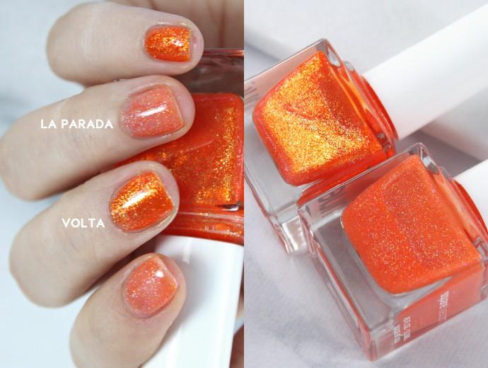 SquareHue January + February 2017 & Polishing Short Nails | LA PARADA VS VOLTA