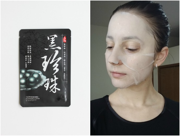 1 Day 1 Mask Skincare Challenge - Korean beauty trend | Is It Worth It? Lovemore Black Pearls True White Mask