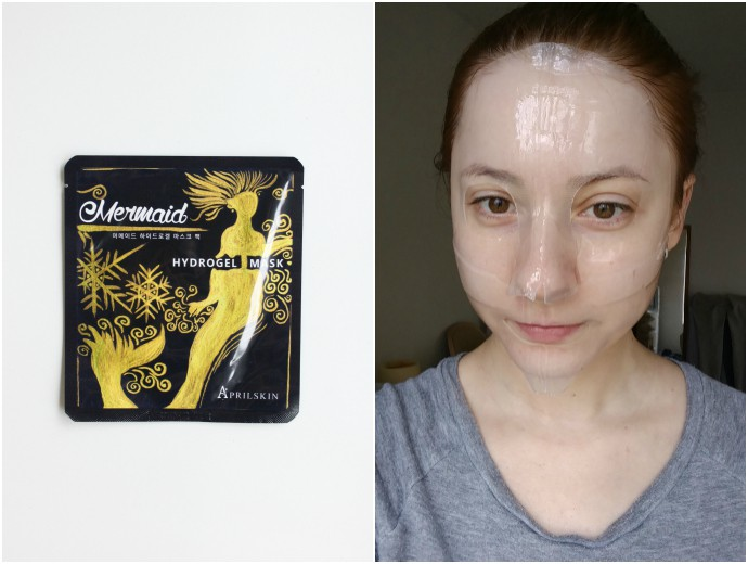 1 Day 1 Mask Skincare Challenge - Korean beauty trend | Is It Worth It? Aprilskin Mermaid Hydrogel Mask