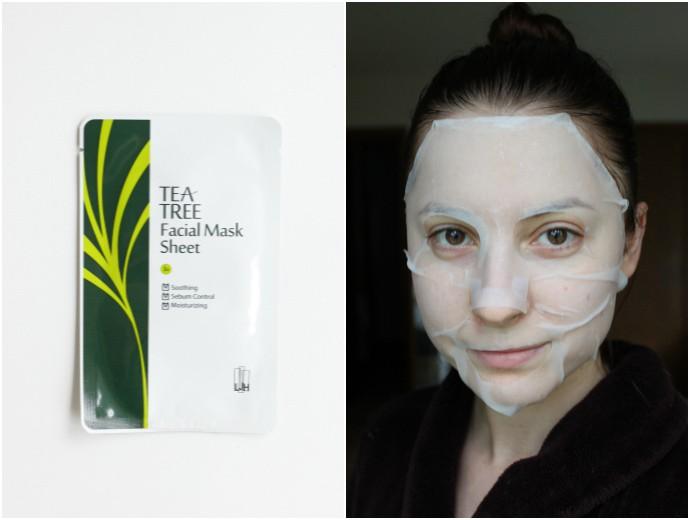 1 Day 1 Mask Skincare Challenge - Korean beauty trend | Is It Worth It? LJH LeeJiham TeaTree Facial Mask Sheet