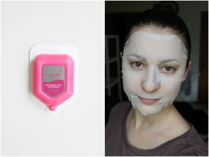 1 Day 1 Mask Skincare Challenge - Korean beauty trend | Is It Worth It? Prelab Skin Energy Mask White Energy