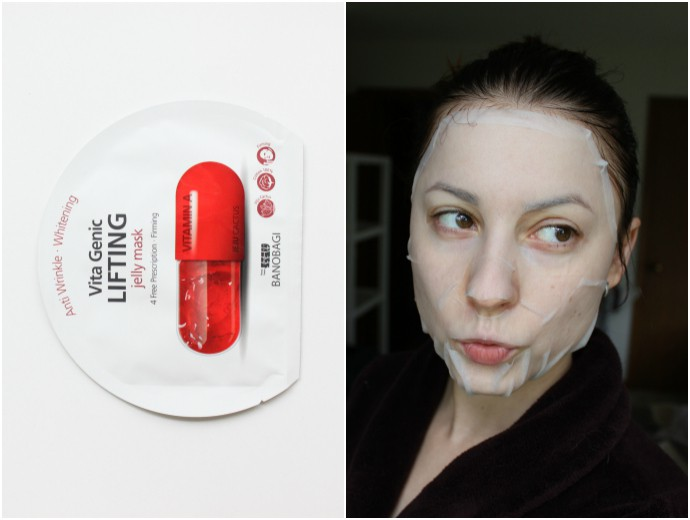 1 Day 1 Mask Skincare Challenge - Korean beauty trend | Is It Worth It? Banobagi Vita Genic Lifting Jelly Mask