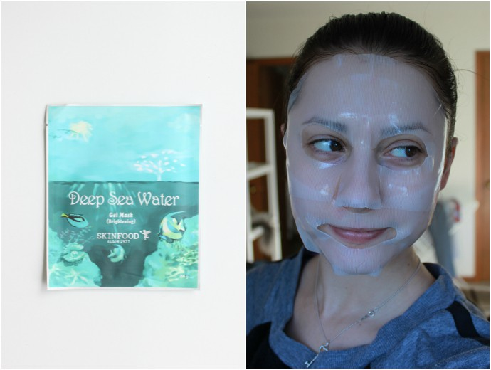 1 Day 1 Mask Skincare Challenge - Korean beauty trend | Is It Worth It? Skinfood Deep Sea Water Brightening Gel Mask