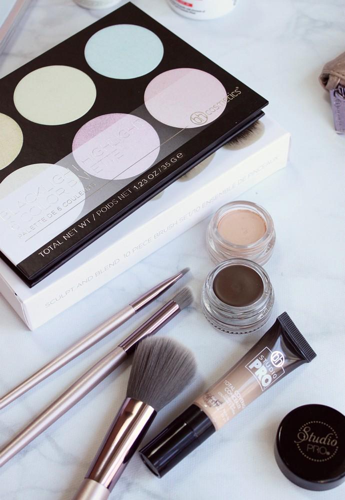 PR Haul #2 - Beauty | Kiehl's Ultra Facial Cream Sunscreen SPF 30, Creamy Eye Treatment With Avocado Oil, BH Cosmetics Lavish Elegance 15 Piece Brush Set With Cosmetic Bag, Sculpt and Blend 2 - 10 Piece Brush Set, Smooth Canvas Long-Wear Shadow Primer Veil, Studio Pro Waterproof Brow Pomade Brunette, Blacklight Highlight 6 Color Palette, and Studio Pro Total Coverage Concealer 102, Paula's Choice Skin Perfecting 2% BHA Liquid