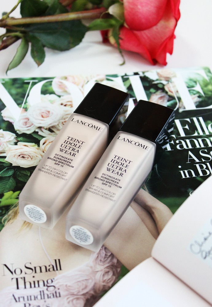 Lancome Teint Idole Ultra Wear Foundation Swatches & Review - Best foundation for combination, oily skin. Fragrance-free, long-lasting, unscented.