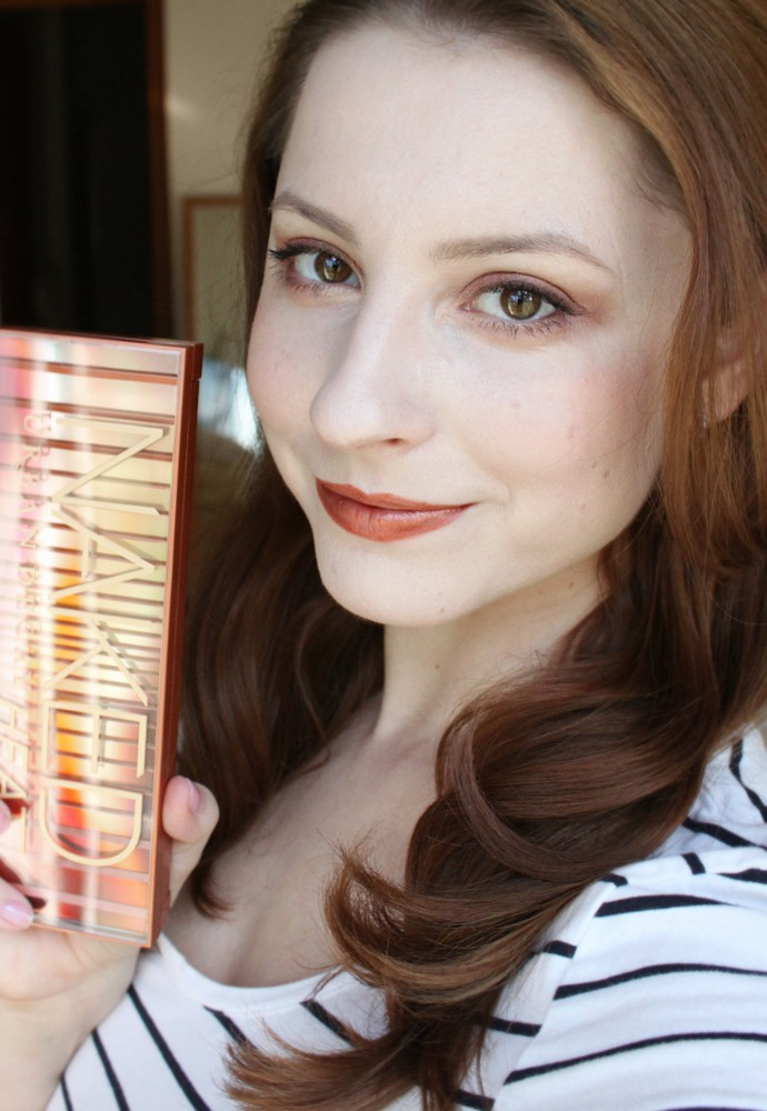 Urban Decay Naked Heat Palette Makeup Look for Fair Skin NC 15