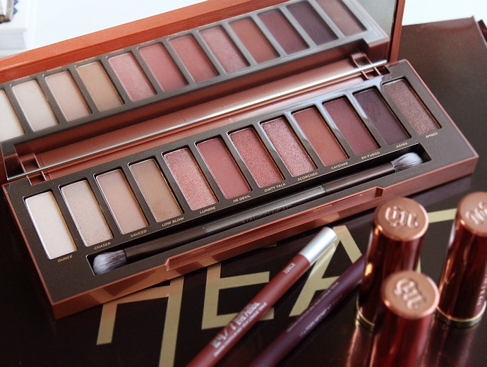 Urban Decay Naked Heat Palette Review & Swatches on Fair Skin