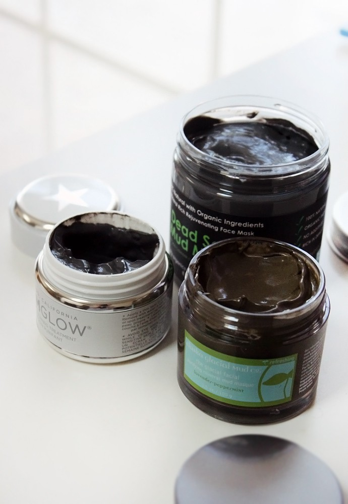 Mud Masks for Oily & Combination Skin - Alaska Glacial Mud Co. Glacial Facial Purifying Mineral Mud Masque, Sky Organics Dead Sea Mud Mask , Glamglow Supermud Clearing Treatment review via @glamorable #skincare #mudmask #combinationskin