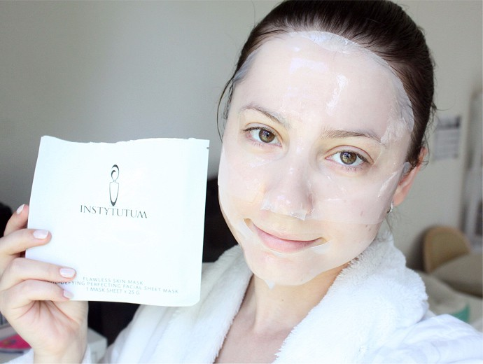 Instytutum Age Defying Perfecting Facial Sheet Mask Review & Demo