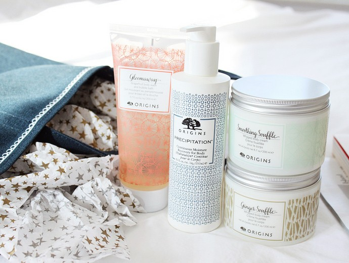 Origins Precipitation Continuous Moisture Recovery for Body, Whipped Body Cream Ginger Souffle, Whipped Body Cream Smoothing Souffle, and Gloomaway Grapefruit Body Wash & Bubble Bath  - Are they worth the price?