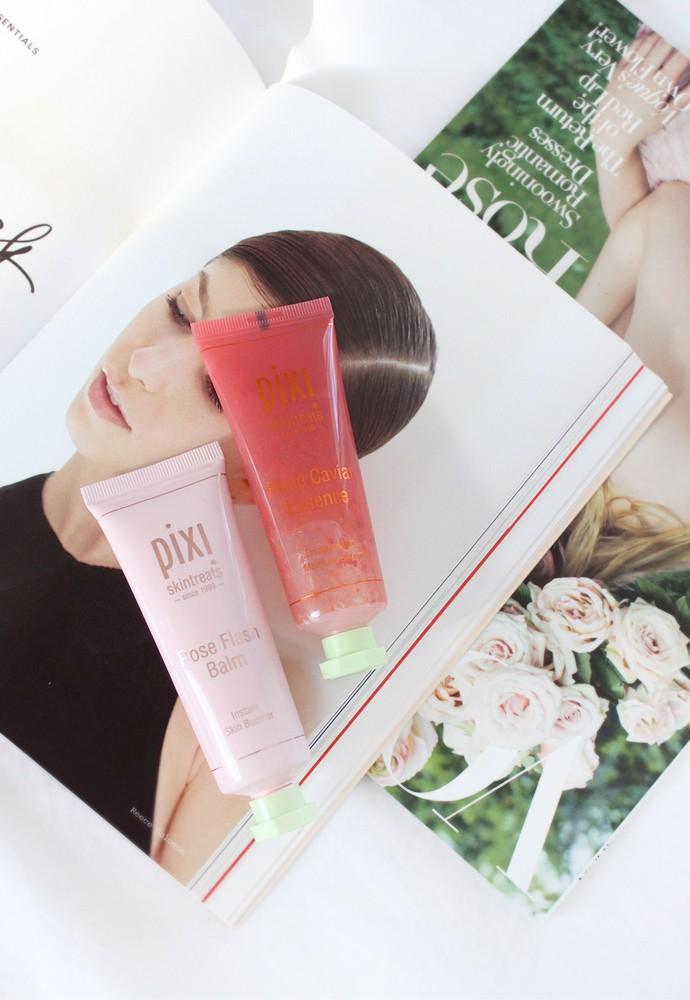 PIXI Rose Caviar Essence and Rose Flash Balm Review - via @glamorable #pixibypetra #pixibeauty #skintreats #skincare #essence #cleanbeauty #nonasties #nontoxic
