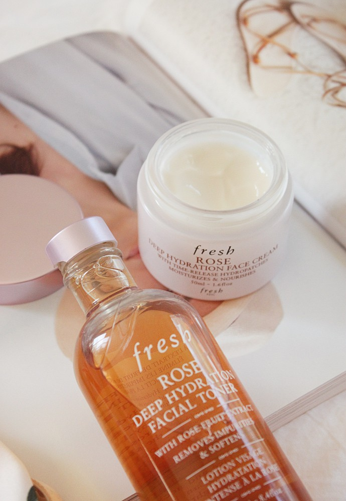 Fresh Rose Deep Hydration Facial Toner and Cream Review - beauty products for dehydrated skin   via @glamorable #bbloggers #skincare #beauty #sephora