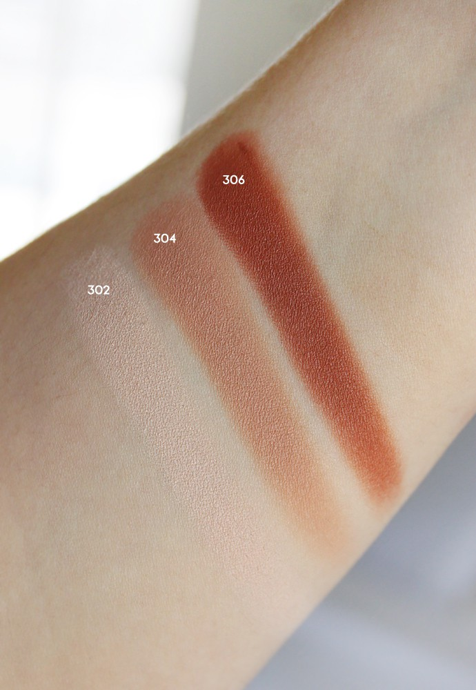 L'Oreal Colour Riche Eyeshadow Mono 302 Mix and Matte, 304 Matte It Up, and 306 Acro-Matte swatch, review, demo, price, ingredient, pros and cons