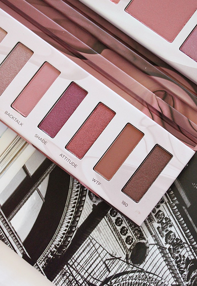 Urban Decay Backtalk Eye & Face Palette swatches, review