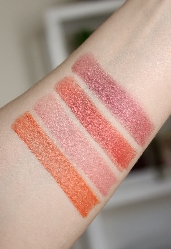 Au Naturale Fall 2018 Spirit, Grace, Ambition, Charm Lipsticks swatches, review
